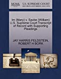 Im (Mary) v. Saxbe (William) U.S. Supreme Court Transcript of Record with Supporting Pleadings