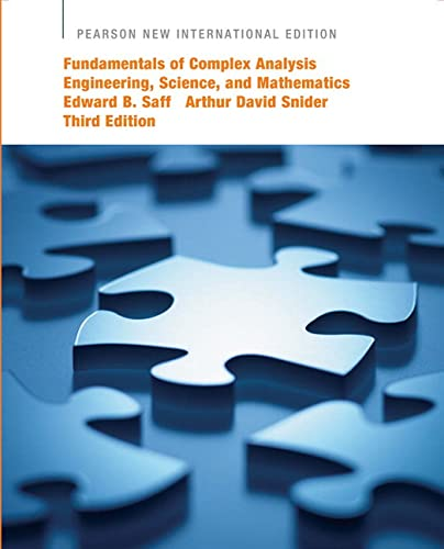 Cover of Fundamentals of Complex Analysis Engineering, Science, and Mathematics