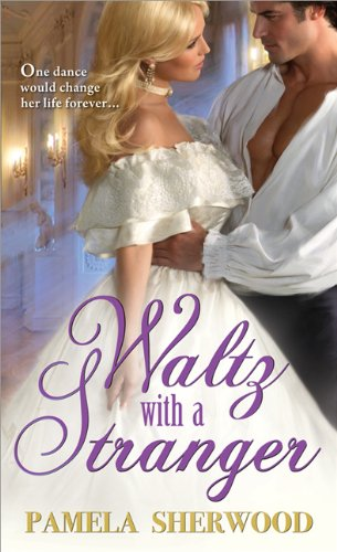 Waltz With A Stranger by Pamela Sherwood - the hero has his shirt unbuttoned in a ballroom and is dancing with a woman who I SWEAR looks a LOT like Britney Spears