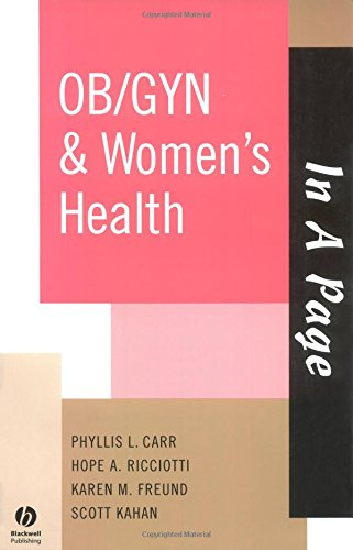 IN A PAGE OB/GYN & WOMEN'S HEALTH (IN A PAGE SERIES)