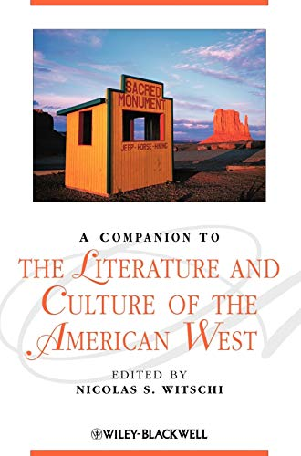 PDF A Companion to the Literature and Culture of the American West