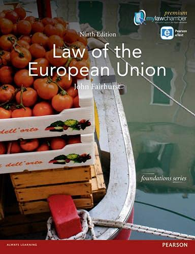 Law of the European Union Mylawchamber P (Foundation Studies in Law Series)