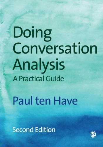 PDF Doing Conversation Analysis A Practical Guide 2nd edition