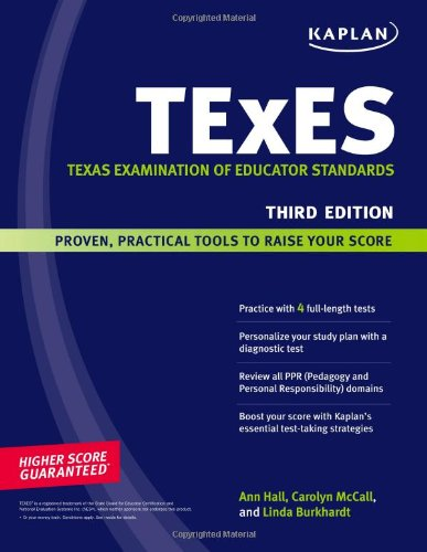 black background with green bar across middle and faint blue swoosh down side, cover of TExES : the Texas Examination of Educator Standards