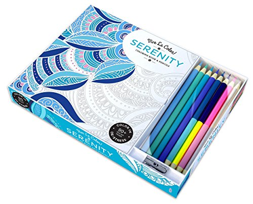 Vive Le Color! Serenity (Adult Coloring Book and Pencils): Color Therapy Kit - Abrams Noterie, Original French Edition by Marabout