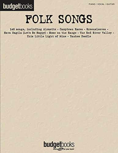 Folk Songs: Budget Books, Hal Leonard Corp.