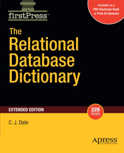 The relational database dictionary [electronic resource]