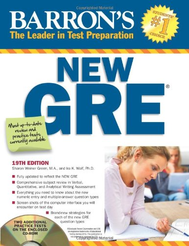 Barron's New GRE 19th Ed