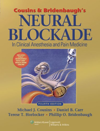 Nursing anesthesia books nurse anesthesia practice libguides at cousins bridenbaughs neural blockade in clinical anesthesia and pain medicine fandeluxe Images