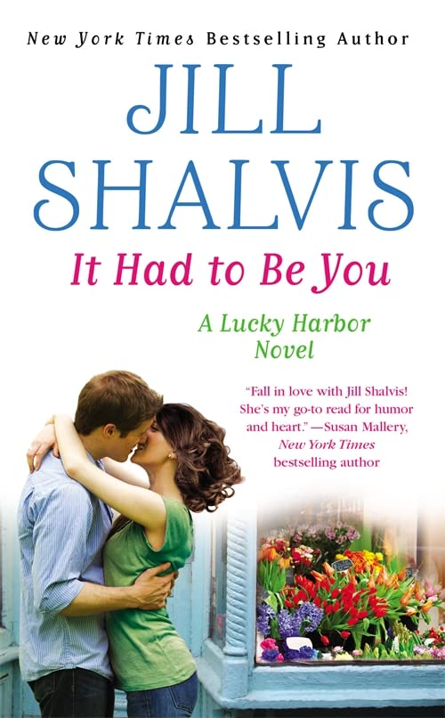 Book It Had to Be You - a couple about to kiss by a window full of flowers - the heroine works in a flower shop