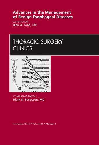 ADVANCES IN THE MANAGEMENT OF BENIGN ESOPHAGEAL DISEASES,  AN ISSUE OF THORACIC SURGERY CLINICS