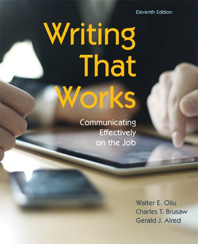 PDF Writing That Works Communicating Effectively on the Job 11th edition