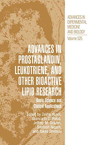 PDF Advances in Prostaglandin Leukotriene and other Bioactive Lipid Research Basic Science and Clinical Applications Advances in Experimental Medicine and Biology