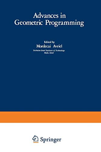 PDF Advances in Geometric Programming Mathematical Concepts and Methods in Science and Engineering