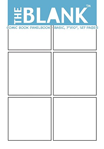 """The Blank Comic Book Panelbook - Basic, 7""""x10"""", 127 Pages - About Comics"""