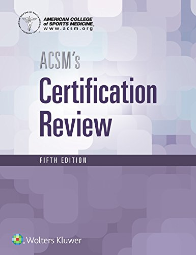 ACSM'S CERTIFICATION REVIEW, 5E (PB)