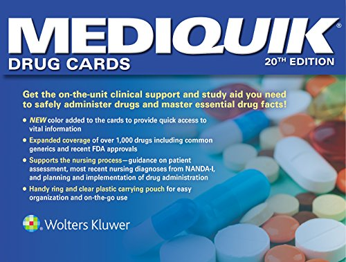 MEDIQUIK DRUG CARDS, 20/ED.
