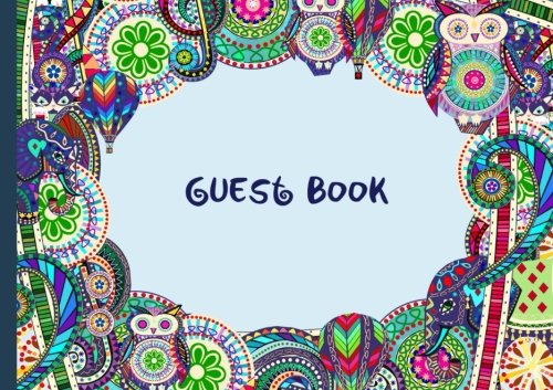 "Guest Book: Visitors Book / Guestbook ( Carnival design * Softback * 8.5"" x 6"" ) (Sign in Books for Weddings, Birthday, Funerals & Hospitality) - smART bookx"