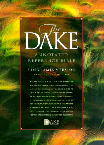 The Dake Annotated Reference Bible, Standard Edition: King James Version (KJV), burgundy bonded leather, words of Christ in red, with mconcordance