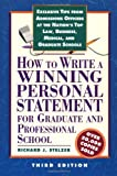 How to Write a Winning Personal Statement for Graduate and Professional School)