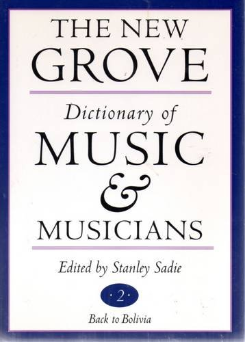 Cover of The New Grove Dictionary of Music and Musicians