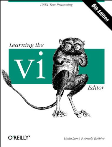 Book Cover: Learning the vi Editor (6th Edition)