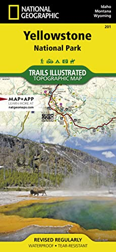 Yellowstone National Park, WY - Trails Illustrated Map #201