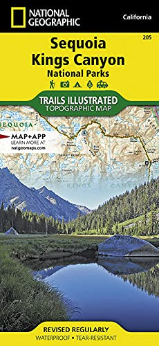 Sequoia and Kings Canyon National Parks (National Geographic Trails Illustrated Map) - National Geographic Maps - Trails Illustrated