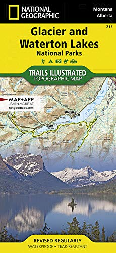 Glacier and Waterton Lakes National Parks (National Geographic Trails Illustrated Map) - National Geographic Maps - Trails Illustrated