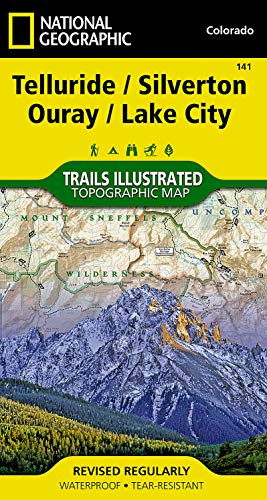 Telluride, Silverton, Ouray, Lake City (National Geographic Trails Illustrated Map) - National Geographic Maps - Trails Illustrated