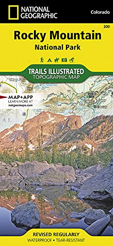 Rocky Mountain National Park Hiking Map - Trails Illustrated Maps