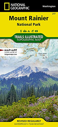 Mount Rainier National Park (National Geographic Trails Illustrated Map) - National Geographic Maps - Trails Illustrated