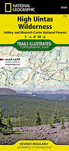 High Uintas Wilderness Map - National Geographic Maps - Trails Illustrated