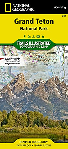 Grand Teton National Park (National Geographic Trails Illustrated Map) - National Geographic Maps - Trails Illustrated