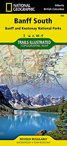Banff South [Banff and Kootenay National Parks] (National Geographic Trails Illustrated Map) - National Geographic Maps - Trails Illustrated