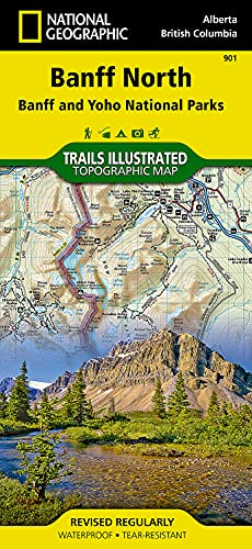 Banff North [Banff and Yoho National Parks] (National Geographic Trails Illustrated Map) - National Geographic Maps - Trails Illustrated