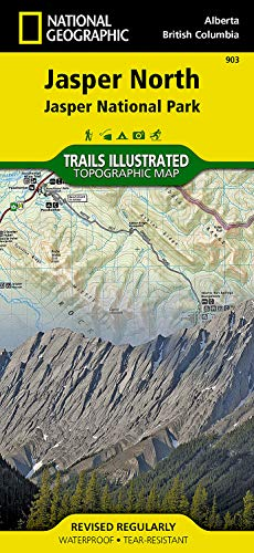 Jasper North [Jasper National Park] (National Geographic Trails Illustrated Map) - National Geographic Maps - Trails Illustrated