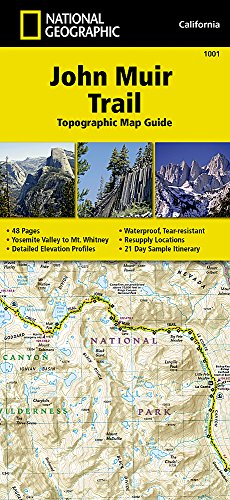 John Muir Trail Topographic Map Guide (National Geographic Trails Illustrated Map) - National Geographic Maps - Trails Illustrated