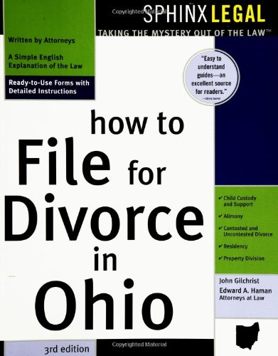 How To File For Divorce In Ohio By John Gilchrist Edward Haman