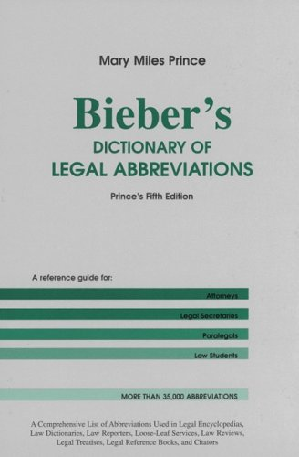 bieber dictionary. Bieber#39;s dictionary of legal