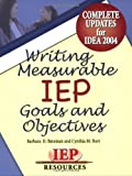 Buy Writing Measurable IEP Goals and Objectives from Amazon