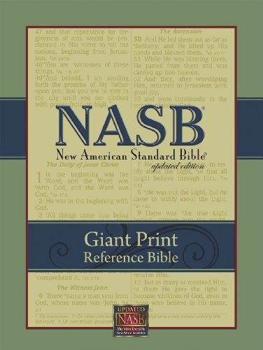 NASB Giant Print Reference Bible: New American Standard Bible Update, black leathertex