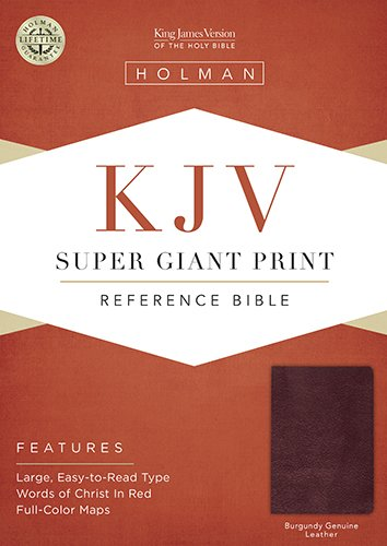 KJV Super Giant Print Bible (Burgundy Genuine Leather)