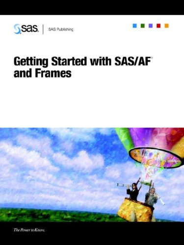 Book Cover: Getting Started with SAS/AF(R) and Frames