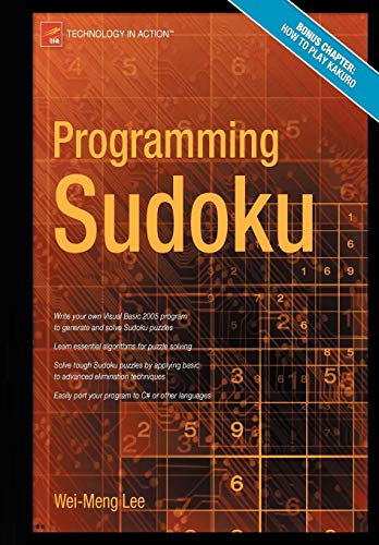 Book Cover: Programming Sudoku (Technology in Action)
