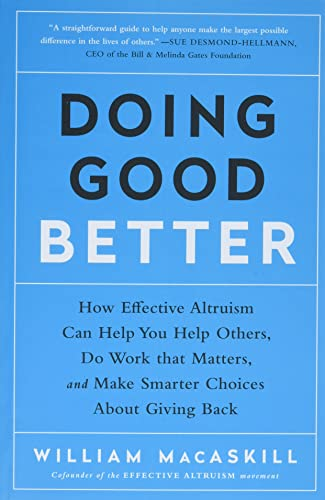 Doing Good Better Book Cover Picture
