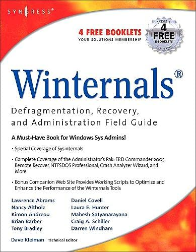 Book Cover: Winternals: Defragmentation, Recovery, and Administration Field Guide