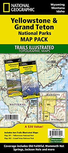 Yellowstone and Grand Teton National Parks [Map Pack Bundle] (National Geographic Trails Illustrated Map) - National Geographic Maps - Trails Illustrated
