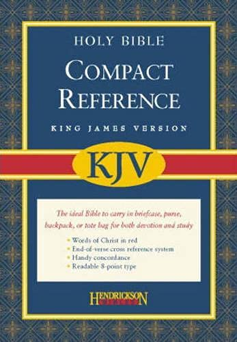 KJV Compact Reference Bible: King James Version, Black Bonded Leather