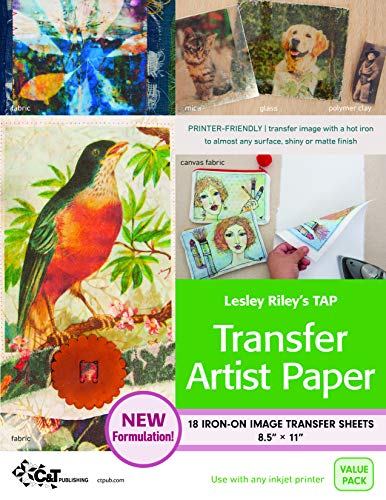 Lesley Riley's Tap, Transfer Artist Paper: 18 Iron-on Image Transfer Sheets 8.5 X 11